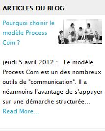 accès au blog : pourquoi Process Com?